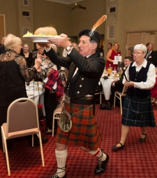 Murray Nicolson carrying in the haggis - 20121013 - Clan MacNicol Céilidh -Launceston, Tasmania, Australia