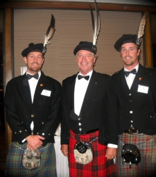 The Chief with his sons Luke and Adam   -   20101009 - International Clan MacNicol Céilidh, Vancouver, BC, Canada
