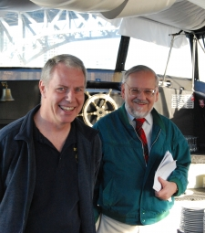 Dick Nicoll and Jermey Nicholson on the dinner cruise in Vancouver, BC, Canada
