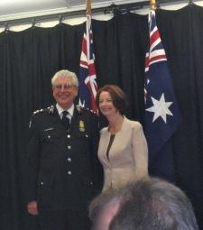 Dr Iain Nicolson with Australian Prime Minister Julia Gillard