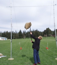 Lyn Nicholson Tossing the Sheaf, Roxburgh Games
